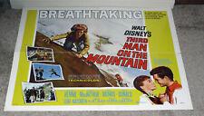 Third Man On The Mountain orig Disney movie poster Michael Rennie/Janet Munro