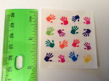 Sandylion Vintage Mini Hand Prints Stickers 1 Square RETIRED
