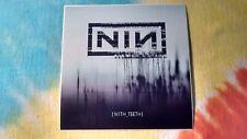 Nine In Nails Nin With Teeth 4 x 4 Inch Sticker