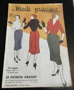 Magazine La MODE PRATIQUE  15  Janvier 1950  n°2