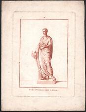 XVIIIe Gravure originale personnage consulaire Rome romains histoire