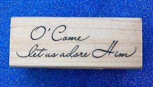 NEW Inkadinkado 'Adore Him' Christmas Stamp 🎄