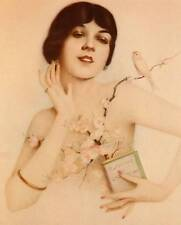 "Original Vintage Alberto Vargas Print ""Yellow Canary"" Book Plate"