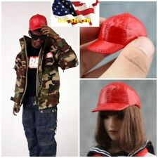 """1/6 Scale RED Cap Hat For 12"""" Hot Toys Phicen Kumik Female Male Figure ❶USA❶"""
