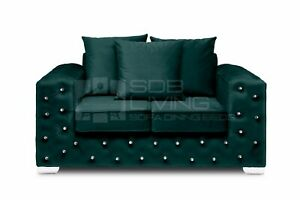 Ashton Chesterfield Sofa Luxury Style | Plush Emerald | 2 STR 3STR ARMCHAIR