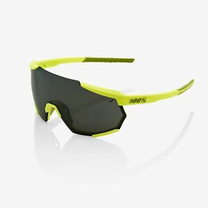 100% RACETRAP Bike Sunglasses Soft Tact Banana Black Mirror Lens + Clear Lens
