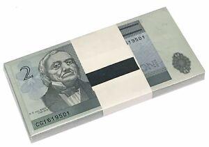 ESTONIA 2 KROONI 1992 P 70 UNC BUNDLE OF (100 PCS)