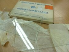 4x GNOME NEGATIVE CARRIER GLASSES Large size:162 x 89mm Chamfered Edges (George)