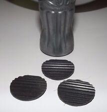 Set of 3 replacement rubber feet for 1935 Coca-Cola pretzel bowl