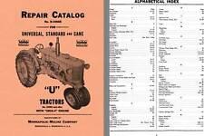 Minneapolis-Moline Repair Catalog for Universal, Standard and Cane 'U' Tractors