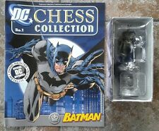 DC Chess Collection #1 Batman White King  Metallic Resin Figure & Magazine