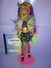 """Monster High """"Freaky Fusion"""" Clawvenus Doll inc Diary, Stand & Accessories"""