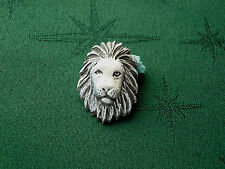 African Lion Button, 26mm x 19mm, Handcrafted in Fine Lead-Free Pewter