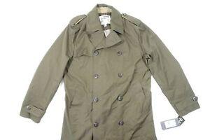 LONDON FOG H91079 OLIVE MEDIUM 38-40 DOUBLE BREASTED DRESS TRENCH COAT JACKET