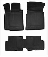 Dacia Logan 2004-2012 sedan Rubber Car Floor Mats All Weather Fully Tailored