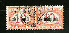 italy office abroad constantinople MNH pair 10cent postage due RARE!!