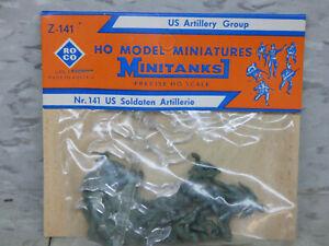 Roco Minitanks (NEW) 1/87 WWII US Artillery Group Soldiers Lot # 5341K