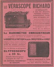 Z9409 Vérascope RICHARD - Glyphoscope -  Pubblicità d'epoca - 1909 Old advert