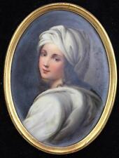 19th C. Continental Hand Painted Porcelain Plaque.