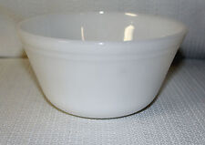 Vintage F Federal Oven Ware White Milk Glass Tapered Nesting/Mixing Bowl