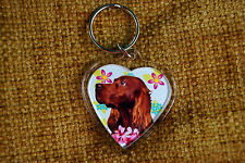 Irish Setter Red Gift Keyring Dog Key Ring heart Birthday Gift