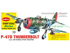 GUILLOW'S- Republic P-47D Thunderbolt Giant Scale Balsa Wood Airplane GUI-1001DB