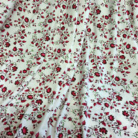 Jersey Dress Fabric Pink and Plum Flower Viscose Lycra Sample, 1/2 or full Metre