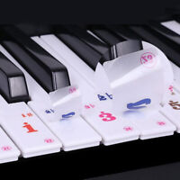 Transparent No Glue Stickers Removable Piano and Keyboard Stickers For 61Key YK