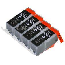 4 CANON Druckerpatronen mit Chip PGI-520 bk black IP 3600 IP 4600 IP 4700 NEU