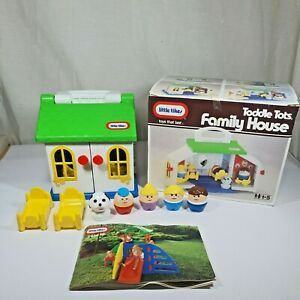 Little tikes 0680 Toddle Tots Family House Vintage Playset 1988 Boxed