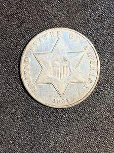 1862 Three Cent Silver Piece