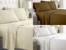 100% Cotton Sheet Set Short Queen 15 Inch Deep Pocket Luxury Quality 4 PCs Set
