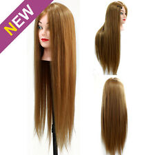 """24"""" Real Human Hair 70% Hairdressing Training Head Cosmetology Mannequin Doll"""