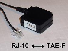 Telefonadapter RJ10 / TAE-F, ca. 20 cm (Westernstecker 7 mm auf TAE-F-Buchse)