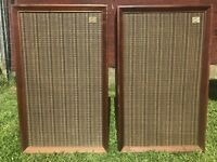 VTG Pair of 2 ALLIED KNIGHT 2330K Speakers Sealed Back Utah Midrange Early 70's
