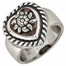 Echtschmuck aus Sterlingsilber Ringe mit Herz-Schliffform für Damen