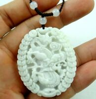 Beautiful 100% Chinese jade hand-carved the statue of  dragon PENDANT E-6