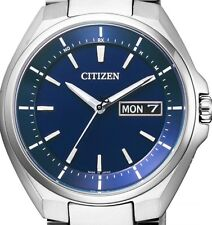 New! CITIZEN ATTESA Eco-drive Radio Clock AT6050-54L Men's Watch from Japan!