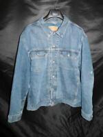 Vintage Levi's 2X XXL Blue Jean Denim Jacket Quilted Satin Lined Coat 70528-0359