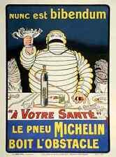 Metal sign MICHELIN Nunc est bibendum 1910 S O Galop A4 12x8 Aluminium