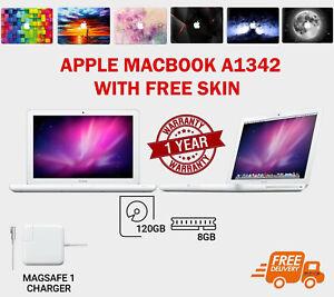 "13.3"" Apple MacBook A1342, Intel Processor, H Sierra, 8GB RAM 120GB SSD -A Grade"