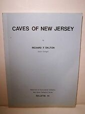 RARE Caves of New Jersey-Dalton-Spelunking-Caving-Geological Survey-NJ-Maps-1st
