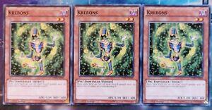 3x Krebons HSRD-DE046 COMMON 1.AUFLAGE DEUTSCH PLAYSET NM Yu-Gi-Oh