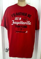 Arkansas Razorbacks T Shirt Size XL Rather Be in Fayetteville than Alabama New