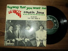 "THE TROGGS / ANYWAY THAT YOU WANT ME + 3 TITRES (1966) 7"" E.P french COUSIN JANE"