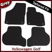 Volkswagen VW Golf Mk5 2003-2008 Oval Eyelets Tailored Carpet Car Mats GREY