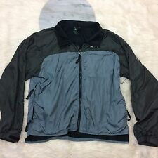 EMS Womens Large Hiking Jacket Lined High Low Zip Up Windbreaker Outdoors Light