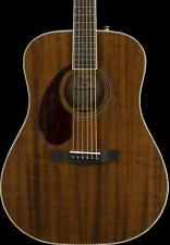 Fender Pm-1 Drednought All Mahogany Left-Handed - Natural with Case