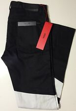 NWT HUGO HUGO BOSS RED LABEL Black/White SKINNY FIT JEANS Size 34/34