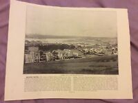 Antique Book Print - Milford Haven OR Mullion Cove - UK - c. 1895